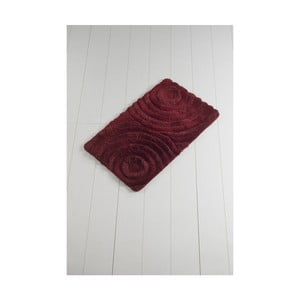 Tmavě červená koupelnová předložka Confetti Bathmats Wave Red, 60 x 100 cm