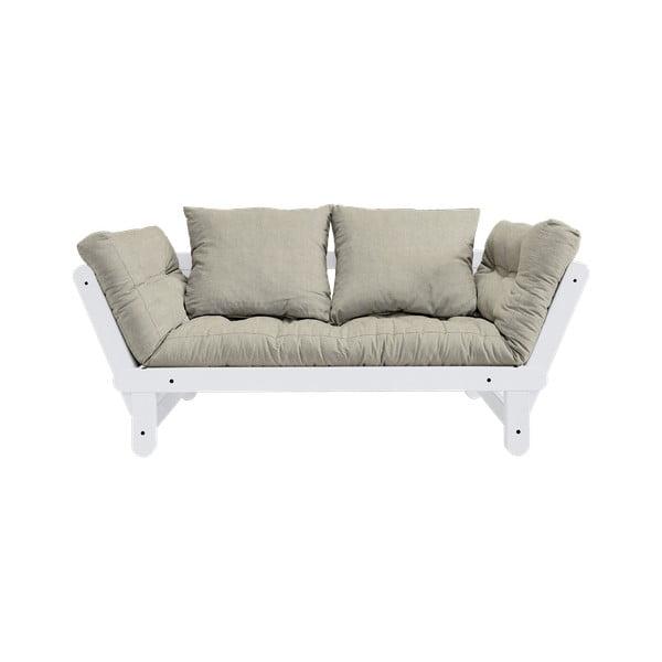 Canapea extensibilă Karup Design Beat White, bej - gri