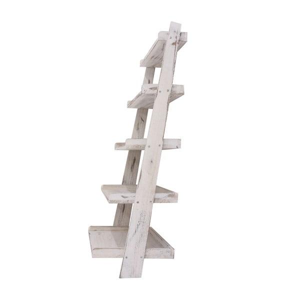 Bílý dřevěný stojan s policemi Mendler Shabby