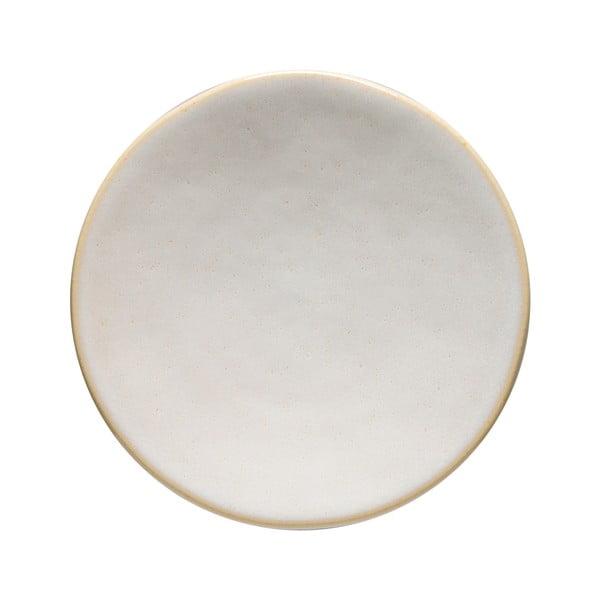 Biely kameninový podnos Costa Nova Roda, ⌀ 16 cm