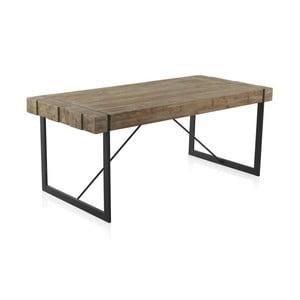 Dřevěný jídelní stůl s kovovými nohami Geese Robust, 200 x 90 cm