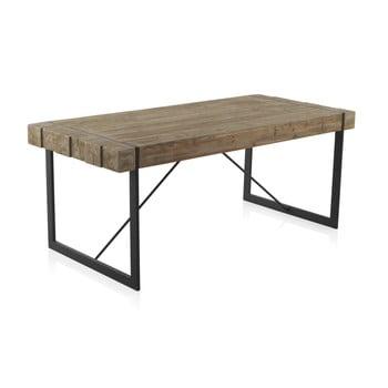 Masă din lemn cu picioare metalice Geese Robust, 200 x 90 cm imagine