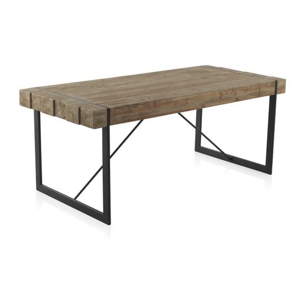 Masă din lemn cu picioare metalice Geese Robust, 200 x 90 cm