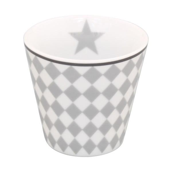 Hrníček na kávu Krasilnikoff Espresso Light Grey Harlekin
