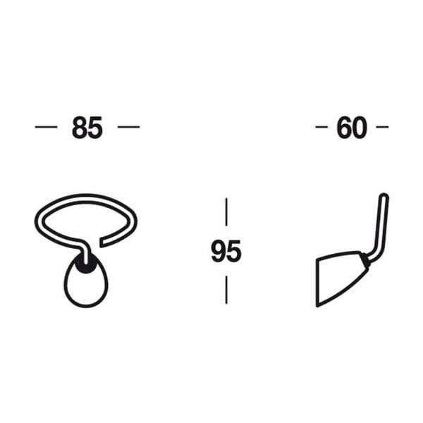 Věšák Chromo Cloths, 8,5x9,5x6 cm