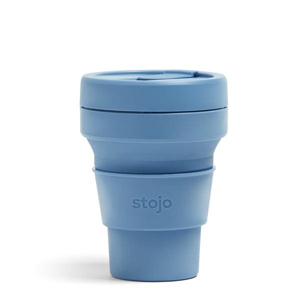 Modrý skládací hrnek Stojo Pocket Cup Steel, 355 ml