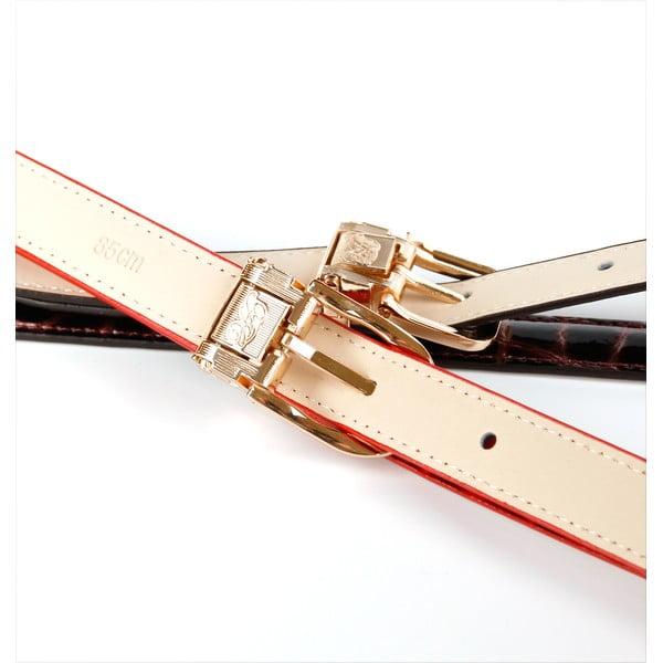 Dámský kožený pásek 44T19 Lila, 100 cm