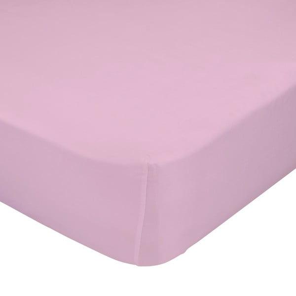 Světle růžové elastické prostěradlo Happynois, 70x140cm