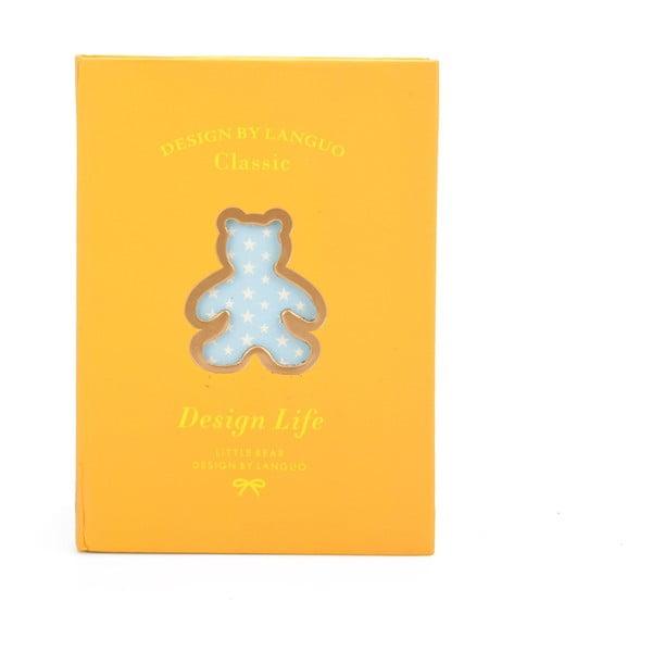Zápisník Bear, žlutý