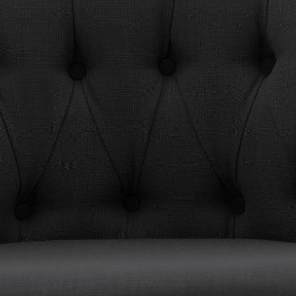 Černá židle s kolečky Vivonita Maggi