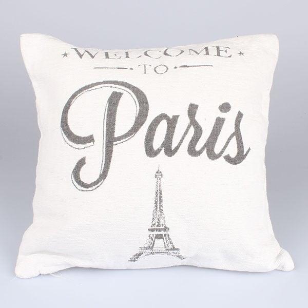Povlak na polštář Paris in White, 40x40 cm