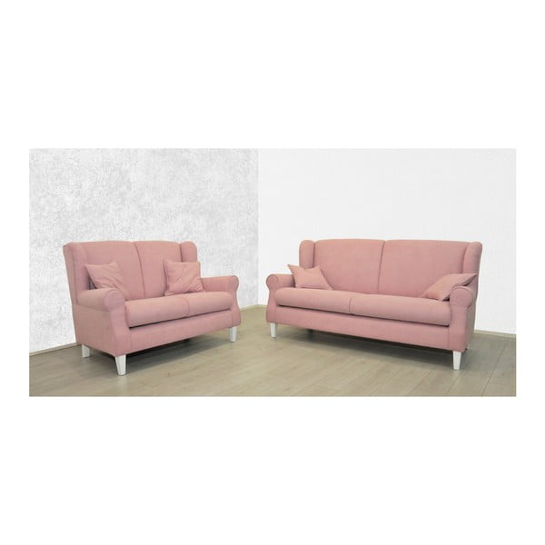 Růžová dvoumístná pohovka Sinkro Flamingo