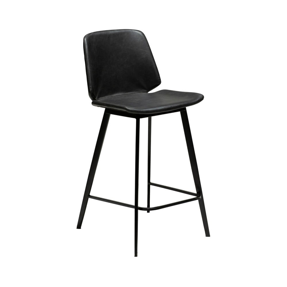 Černá barová židle z eko kůže DAN–FORM Denmark Swing