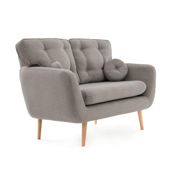 Szara sofa 2-osobowa z poduszką VIVONITA Malva