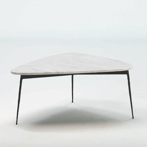 Konferenční stolek z mramoru a kovu Thai Natura