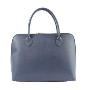 Modrá kožená kabelka Chicca Borse Lady