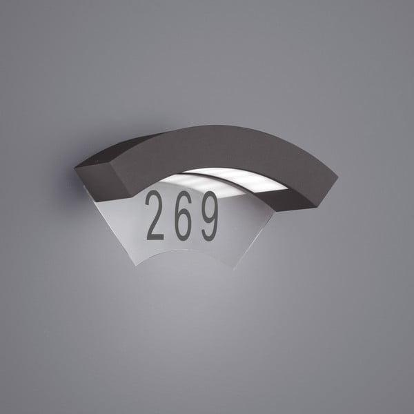 Venkovní nástěnné světlo Moskwa Antracit, 26 cm