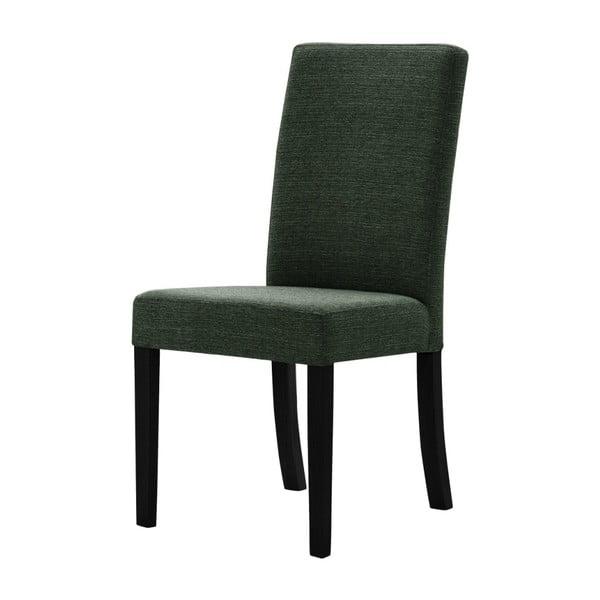 Zelená židle s černými nohami z bukového dřeva Ted Lapidus Maison Tonka