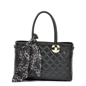 Černá kožená kabelka Carla Ferreri Emily