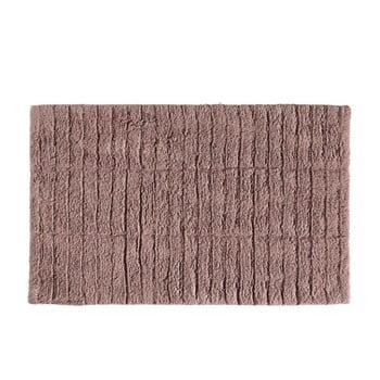 Covor baie din bumbac Zone Tiles, 50 x 80 cm, roz închis de la Zone