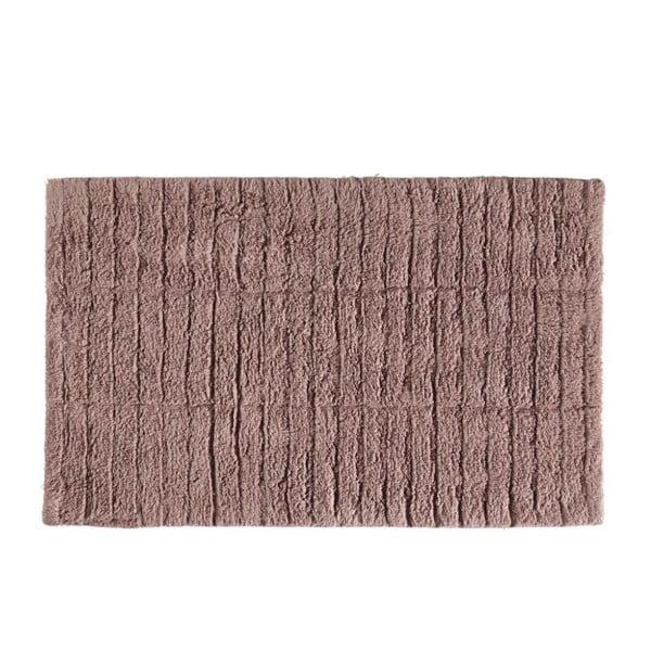 Tmavě růžová bavlněná koupelnová předložka Zone Tiles, 50 x 80 cm