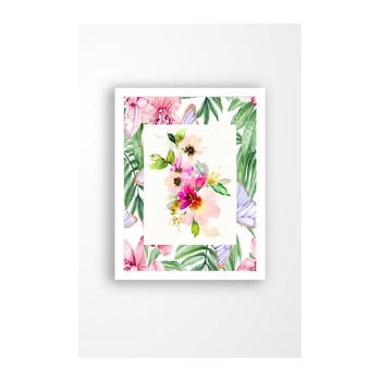 Tablou pe pânză în ramă albă Tablo Center Spring Vibes, 29 x 24 cm de la Tablo Center