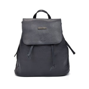 Tmavě modrý kožený batoh Renata Corsi Brenda