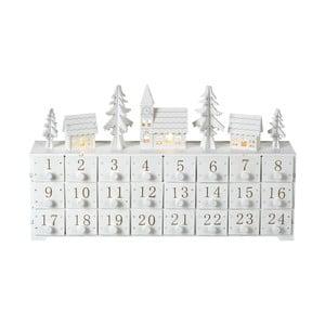 Adventní kalendář s LED osvětlením Parlane, výška 24 cm