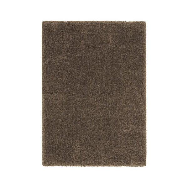 Koberec Super Shaggy 120x170 cm s 5 cm dlouhým vlasem, hnědý