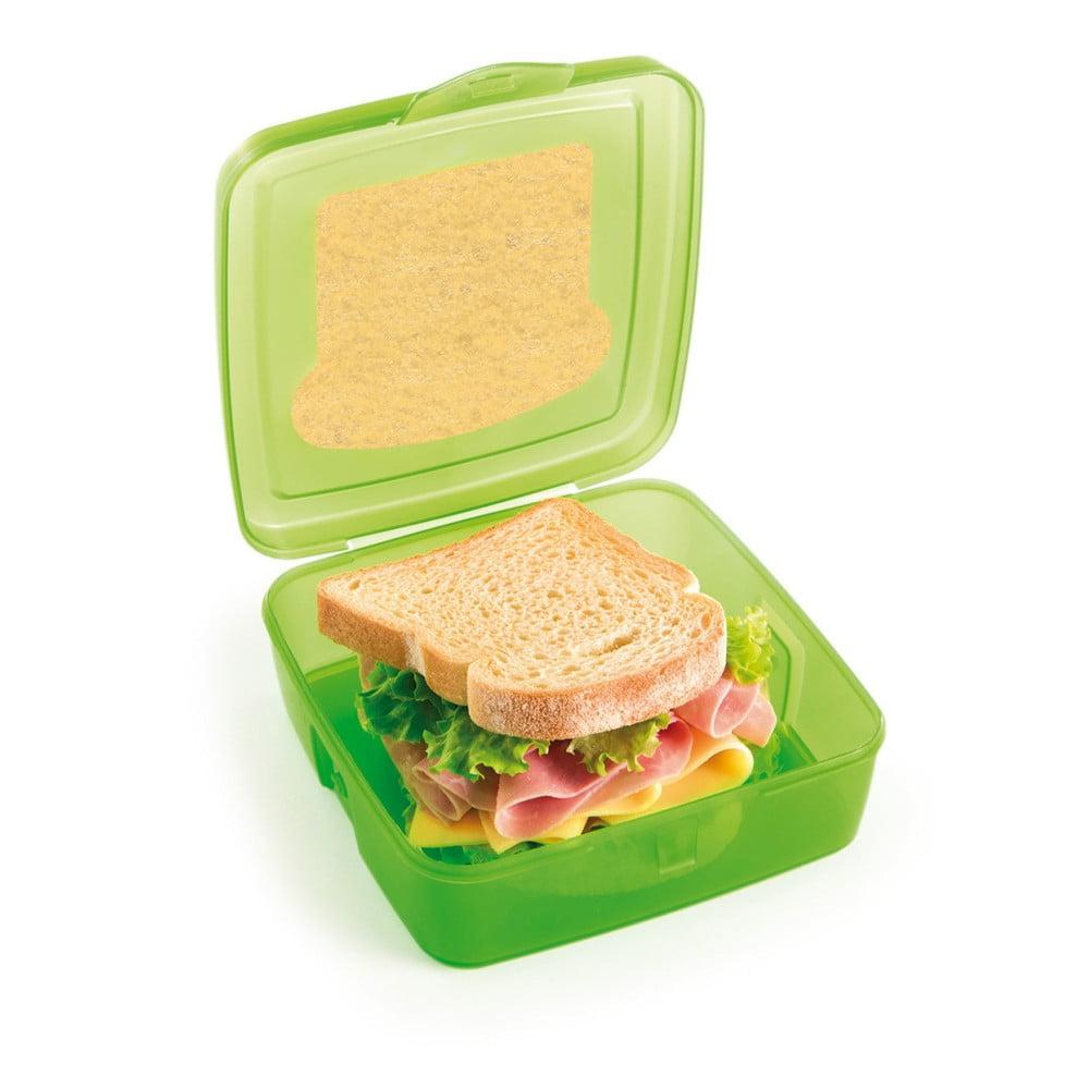 Zelený svačinový box na sendvič Snips Sandwich