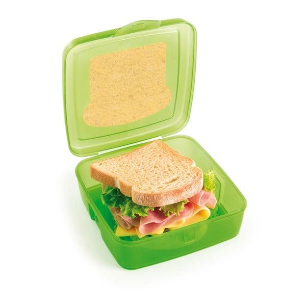 Zelený desiatový box na sendvič Snips Sandwich, 500 ml