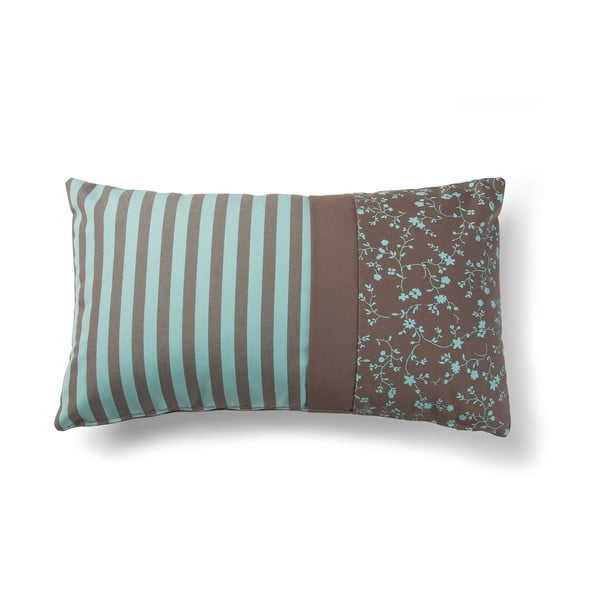 Agua Stripes barna-türkiz párnahuzat, 30 x 50 cm - La Forma