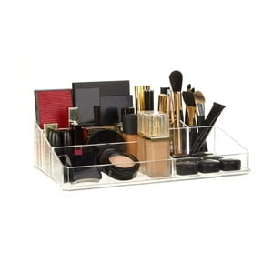 Kosmetický organizér s 9 přihrádkami Premier Housewares Met Clear