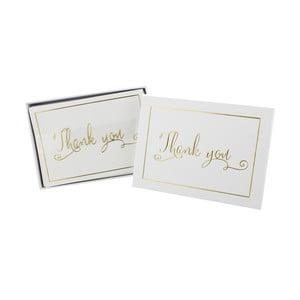 Děkovné kartičky pro svatební hosty Celebrations Always and Forever