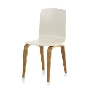 Bílá jídelní židle Geese