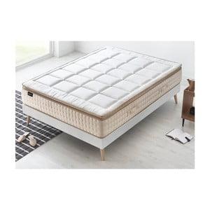 Bílá matrace s krémovým okrajem Bobochic Paris Cashmere,160x200cm