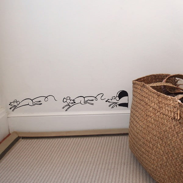 Samolepka Runner mice, 28x31 cm