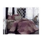 Lenjerie de pat cu cearșaf Eflatun, 200x220cm