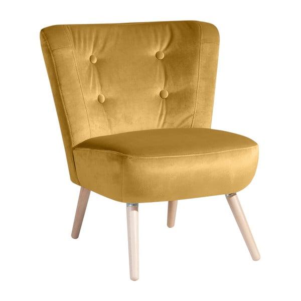 Neele Velvet sárga fotel - Max Winzer