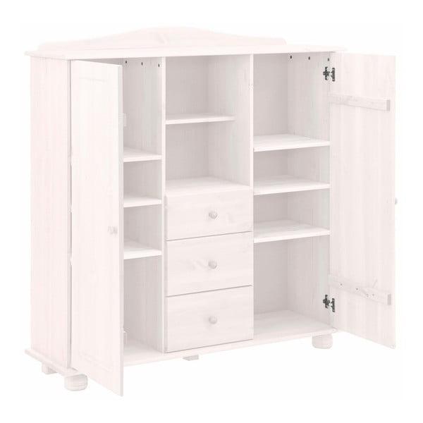 Bílá dřevěná skříň Støraa Ella