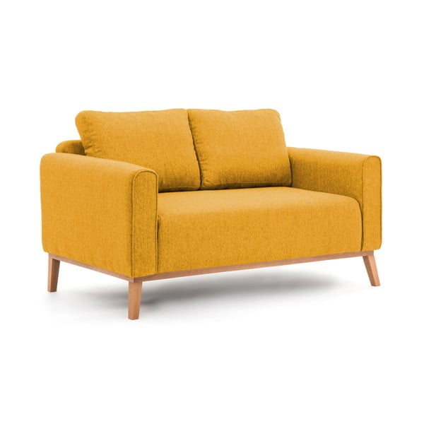 Hořčicově žlutá pohovka pro dva Vivonita Milton