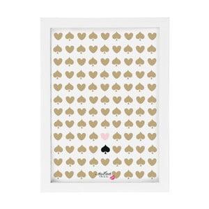 Obraz Miss Étoile Hearts & Spades, 25 x 33 cm