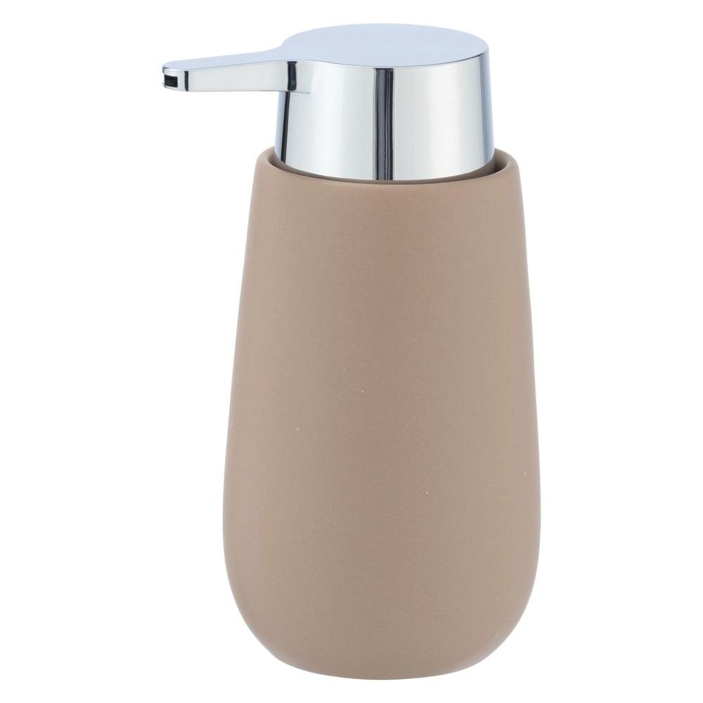 Produktové foto Pískově hnědý keramický dávkovač na mýdlo Wenko Badi, 320ml