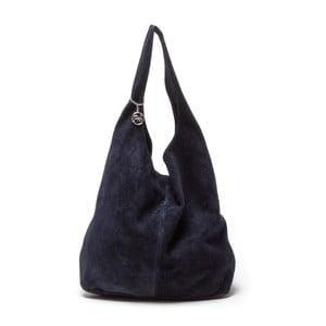 Tmavě modrá kožená kabelka Roberta M 885 Blu