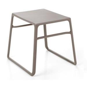 Béžovošedý zahradní odkládací stolek Nardi Garden Pop