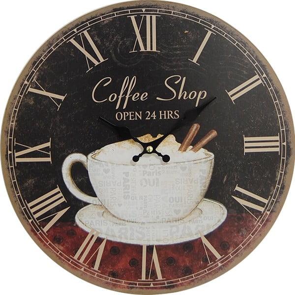 Hodiny Coffee Shop, 34 cm