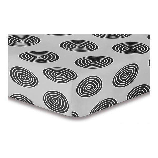 Cearșaf din microfibră cu elastic DecoKing Hypnosis Fossil Sofia, 220x240cm