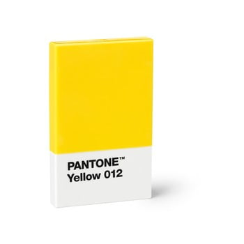 Suport cărți de vizită Pantone, galben