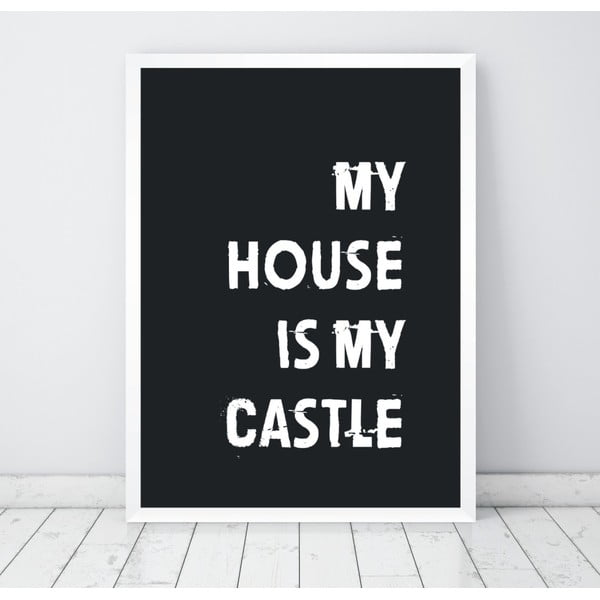 Poster Nord & Co My House My Castle, 21 x 29 cm