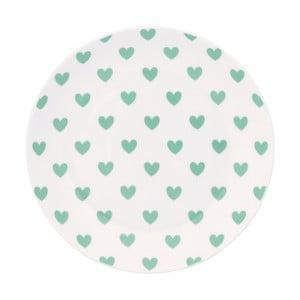 Keramický talíř Miss Étoile Emerald Hearts , ⌀ 17 cm